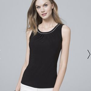 NWT WHBM Sleeveless Black Blouse